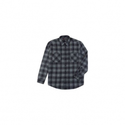 Koszula męska klasyczna, Z KOŁNIERZEM, z kieszonkami casual flanelowa. Szare koszule męskie marki TXM, m. Za 29,99 zł.