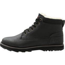 Quiksilver MISSION V Śniegowce solid black. Czarne glany męskie Quiksilver, z gumy. Za 399,00 zł.