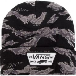 Czapka VANS - Milford Beanie VN000UOUXGS Tiger Camo. Czarne czapki męskie marki Vans, z elastanu. Za 89,00 zł.