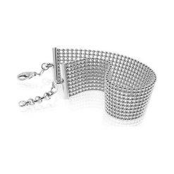 PROMOCJA Srebrna Bransoletka - srebro 925. Szare bransoletki damskie sznurkowe W.KRUK, metalowe. W wyprzedaży za 349,00 zł.