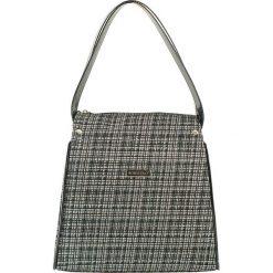Torebki klasyczne damskie: Skórzana torebka w kolorze czarno-białym – (S)27 x (W)25 x (G)16 cm
