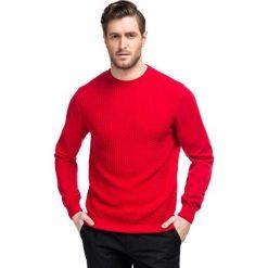 Sweter ADALBERTO SWTR000203. Czarne swetry klasyczne męskie marki Giacomo Conti, m, z bawełny, z klasycznym kołnierzykiem. Za 229,00 zł.