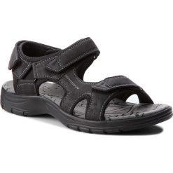 Sandały LANETTI - MS17012-3 Czarny. Czarne sandały męskie skórzane Lanetti. W wyprzedaży za 79,99 zł.