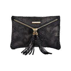 Torebki klasyczne damskie: Skórzana torebka w kolorze czarnym – (S)29 x (W)19 cm