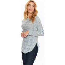 Swetry klasyczne damskie: SWETER Z ZAOKRĄGLONYM DOŁEM I WARKOCZEM Z PRZODU