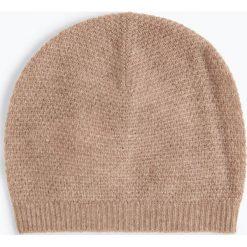Marie Lund - Damska czapka z czystego kaszmiru, beżowy. Brązowe czapki damskie Marie Lund, z kaszmiru. Za 229,95 zł.