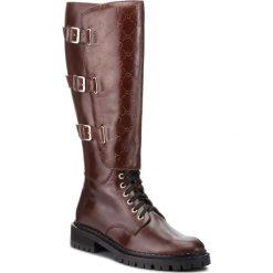 Oficerki EVA MINGE - Pineda 4U 18SF1372605EF 104. Brązowe buty zimowe damskie marki Eva Minge, ze skóry, na obcasie. W wyprzedaży za 589,00 zł.