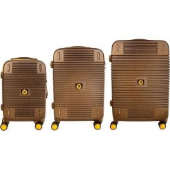 Zestaw walizek Bahamas 20/24/28 Mała/Średnia/Duża. Brązowe walizki marki VIP COLLECTION, duże. Za 2001,05 zł.