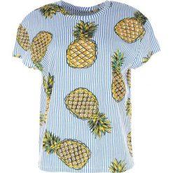 T-shirty damskie: T-shirt z okrągłym dekoltem, nadrukiem i krótkim rękawem