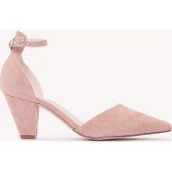 Buty ślubne damskie: NA-KD Shoes Czółenka na średnim obcasie - Pink