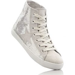 Wysokie sneakersy bonprix srebrny. Szare buty sportowe chłopięce bonprix, na zamek. Za 79,99 zł.