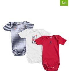 Body niemowlęce: Body (3 szt.) w kolorze białym, granatowym i czerwonym