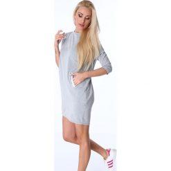 Sukienki: Sukienka ze skrzyżowaniem na plecach jasnoszara 3755