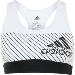 Biustonosze sportowe: adidas Performance LOGOBRA UNPAD Biustonosz sportowy white