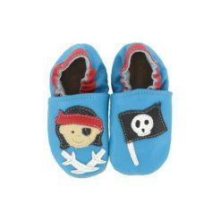 BaBice Buciki do raczkowania PIRAT kolor jasnoniebieski. Niebieskie buciki niemowlęce marki BABICE, ze skóry. Za 69,00 zł.