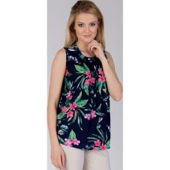 Bluzki asymetryczne: Bluzka w kwiaty bez rękawów QUIOSQUE