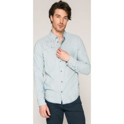 Pepe Jeans - Koszula Barry. Szare koszule męskie jeansowe Pepe Jeans, l, w paski, z klasycznym kołnierzykiem, z długim rękawem. W wyprzedaży za 219,90 zł.