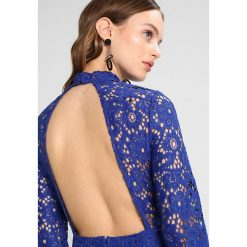 Sukienki hiszpanki: Missguided Petite HIGH NECK CUT OUT BACK LONG SLEEVE MIDI DRESS Sukienka koktajlowa cobalt
