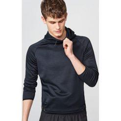 Bluzy męskie: Sportowa bluza z kapturem - Szary