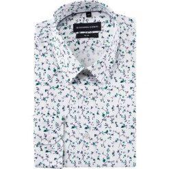 Koszula męska SIMONE KDWS000187. Białe koszule męskie na spinki Giacomo Conti, na lato, m, z bawełny, z klasycznym kołnierzykiem, z długim rękawem. Za 199,00 zł.