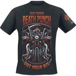 T-shirty męskie z nadrukiem: Five Finger Death Punch Grim Reaper T-Shirt czarny