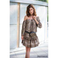Panterka Leopard sukienka VICKY. Szare sukienki mini Pakamera, m, z motywem zwierzęcym. Za 390,00 zł.