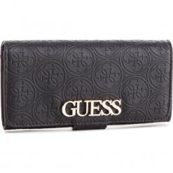 Duży Portfel Damski GUESS - SWSG71 7859 BLA. Czarne portfele damskie Guess, z aplikacjami, ze skóry ekologicznej. Za 279,00 zł.