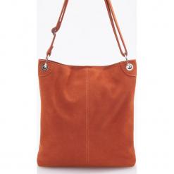 Skórzana torba - Pomarańczo. Różowe torebki klasyczne damskie Reserved. Za 249,99 zł.