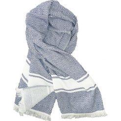 """Kąpielówki męskie: Fouta """"Chevron"""" w kolorze niebiesko-białym – 160 x 90 cm"""
