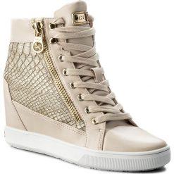 Sneakersy GUESS - Foresst  FLFOR1 PEL12  BEIGE. Brązowe sneakersy damskie Guess, z materiału. W wyprzedaży za 299,00 zł.