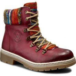 Trapery RIEKER - Y9432-35 Red Kombi. Czarne buty zimowe damskie marki Rieker, z materiału. Za 259,00 zł.