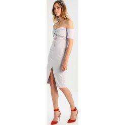 Sukienki hiszpanki: Topshop TWST Sukienka z dżerseju lightgrey