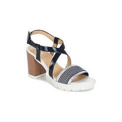 Sandały Geox  GINTARE B. Niebieskie sandały damskie marki Geox. Za 383,20 zł.