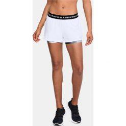 Spodnie sportowe damskie: Under Armour Spodnie damskie HG Armour 2-in-1 Print Short białe r. M (1320598-100)