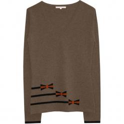 Sweter kaszmirowy w kolorze szarobrązowym. Brązowe swetry klasyczne damskie marki Ateliers de la Maille, z kaszmiru. W wyprzedaży za 409,95 zł.