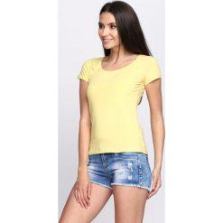 Bluzki, topy, tuniki: Żółty T-shirt Sweet Teraphy