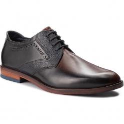 Półbuty BUGATTI - 312-52806-3131-6040 Brown/Blue. Brązowe buty wizytowe męskie Bugatti, z materiału. Za 439,00 zł.
