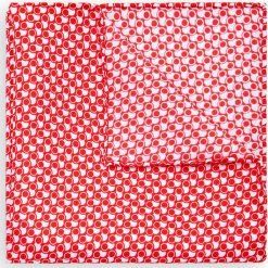 Poszetka Czerwona. Czerwone poszetki męskie LANCERTO, w geometryczne wzory, z jedwabiu, klasyczne. Za 99,90 zł.