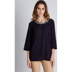 Bluzki asymetryczne: Luźna szyfonowa bluzka z szerszymi rękawami  BIALCON