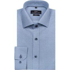 Koszula SIMONE KDNS000124. Niebieskie koszule męskie na spinki marki bonprix, m, z nadrukiem, z klasycznym kołnierzykiem, z długim rękawem. Za 149,00 zł.