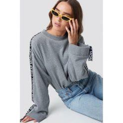 Cheap Monday Bluza Further Sweat - Grey. Szare bluzy rozpinane damskie Cheap Monday, w paski, z długim rękawem, długie. Za 222,95 zł.