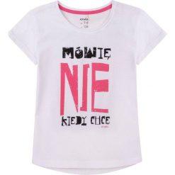 Endo - Top dziecięcy 104-128 cm. Różowe bluzki dziewczęce marki Mayoral, z bawełny, z okrągłym kołnierzem. W wyprzedaży za 24,90 zł.