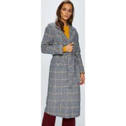 Levi's - Płaszcz. Brązowe płaszcze damskie marki Levi's®, l, w paski, z materiału, klasyczne. Za 699,90 zł.