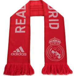Szal adidas - Real Scarf CY5604  Reacor/Vivred/White. Czerwone szaliki damskie Adidas, z materiału. Za 79,95 zł.