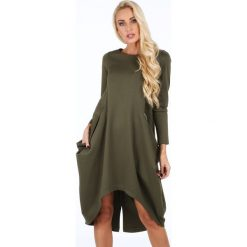 Sukienki: Sukienka asymetryczna khaki 0203