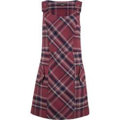 Sukienka bonprix bordowo-ciemnoniebieski w kratę. Czerwone sukienki na komunię marki bonprix, na ramiączkach. Za 129,99 zł.