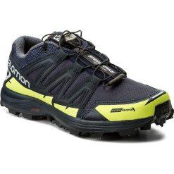 Buty sportowe męskie: Buty SALOMON – Speedspike Cs 394475 27 W0 Navy Blazer/Reflective Silver/Lime Punch.