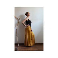 Długa zwiewna spódnica musztarda. Żółte długie spódnice Szarymary, na lato, s, z gumy. Za 119,00 zł.