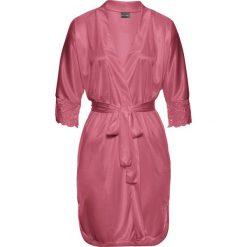 Szlafrok kimono bonprix różowobrązowy. Czerwone szlafroki kimona damskie bonprix, z satyny. Za 89,99 zł.