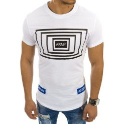 T-shirty męskie z nadrukiem: T-shirt męski z nadrukiem biały (rx2120)